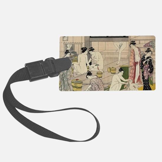 asian geisha bathhouse Luggage Tag
