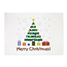 MERRY CHRISTMAS 5'x7'Area Rug