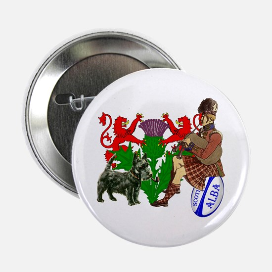 Rampant Lions Rugby Button