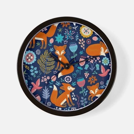 Cool Cute fox Wall Clock