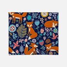 Cool Cute fox Throw Blanket
