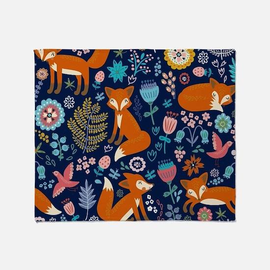 Cute Fox Throw Blanket