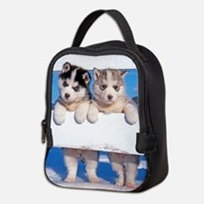 Husky puppies Neoprene Lunch Bag