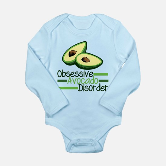 Cute Avocado Long Sleeve Infant Bodysuit