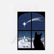 Funny Xmas cat Greeting Cards (Pk of 20)
