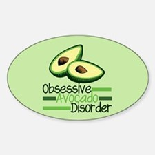 Cute Avocado Sticker (Oval)