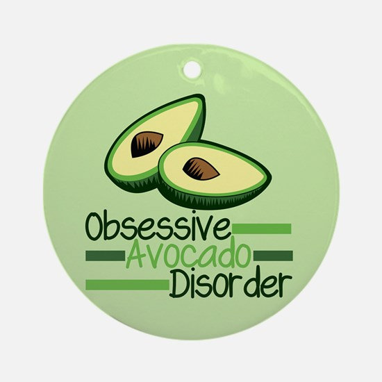 Cute Avocado Round Ornament
