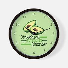 Cute Avocado Wall Clock