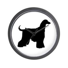 Afghan Hound Dog Wall Clock
