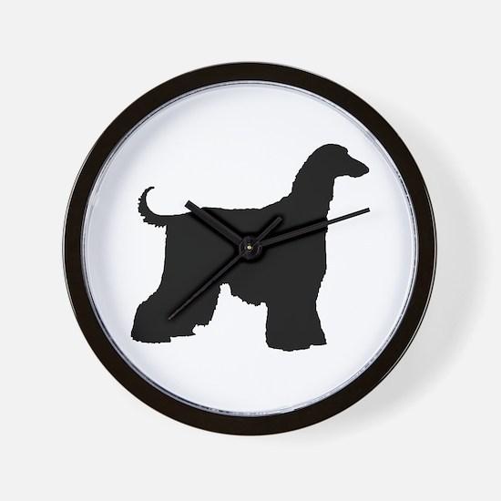Afghan Hound Dog Wall Clock