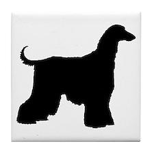 Afghan Hound Dog Tile Coaster