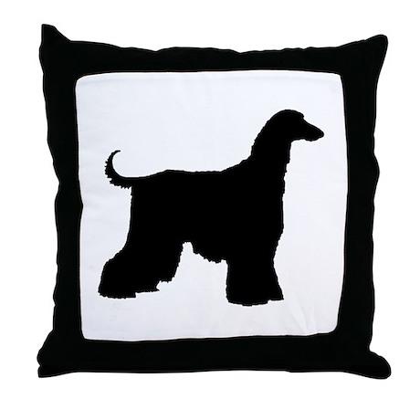 Afghan Hound Dog Throw Pillow