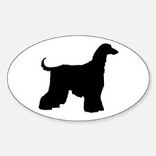 Afghan Hound Dog Oval Decal