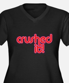 Cute Crush Women's Plus Size V-Neck Dark T-Shirt