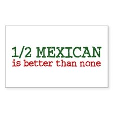 Half Mexican Rectangle Decal