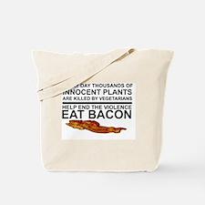 Unique Eating bacon Tote Bag