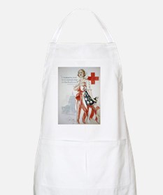 Cute American red cross Apron