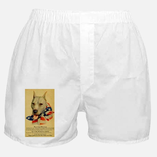 Funny Red nose pit bull Boxer Shorts