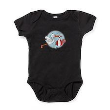 Cute Stork Baby Bodysuit