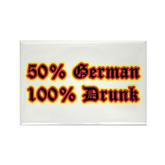 Drunk German Oktoberfest Rectangle Magnet (10 pack