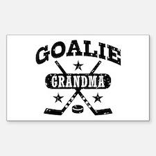 Goalie Grandma Sticker (Rectangle)