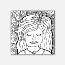 """Cute Coloring pages Square Sticker 3"""" x 3"""""""
