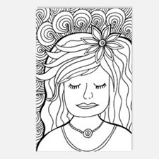 Cute Coloring pages Postcards (Package of 8)