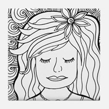 Cute Coloring pages Tile Coaster