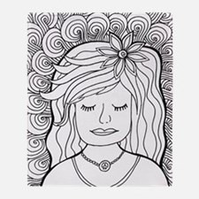 Unique Coloring pages Throw Blanket