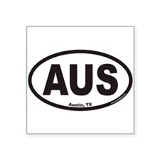 "Cute Austin Square Sticker 3"" x 3"""