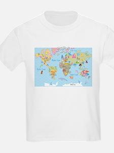 Cute World maps T-Shirt