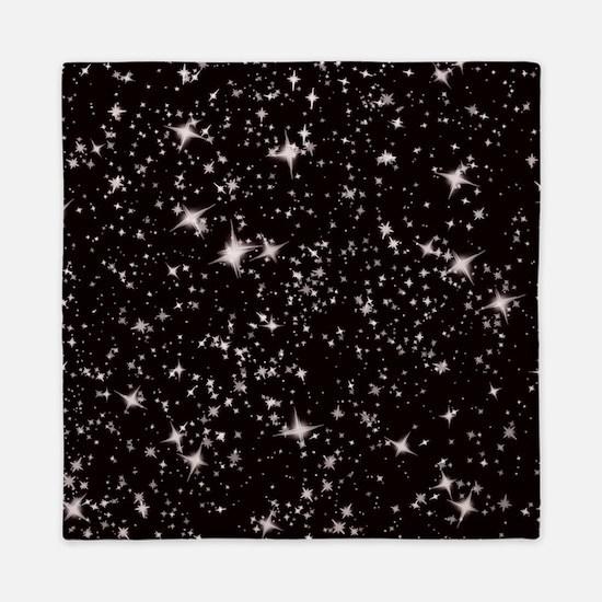 black starry night Queen Duvet