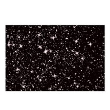 black starry night Postcards (Package of 8)