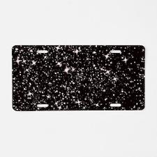 black starry night Aluminum License Plate