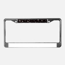 black starry night License Plate Frame