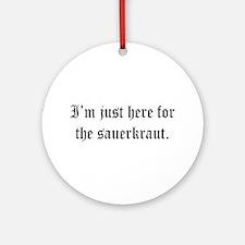 Funny Oktoberfest Ornament (Round)