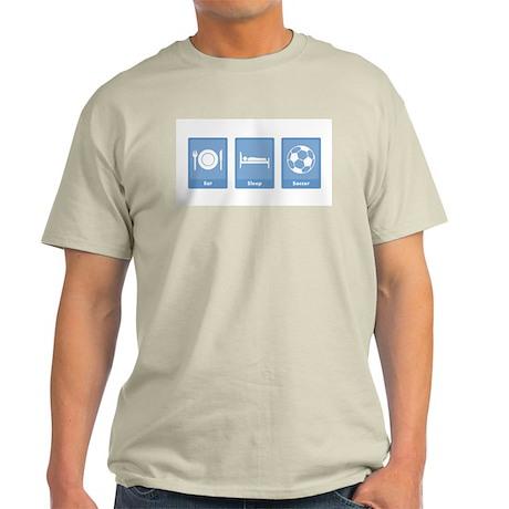 Eat Sleep Soccer Light T-Shirt