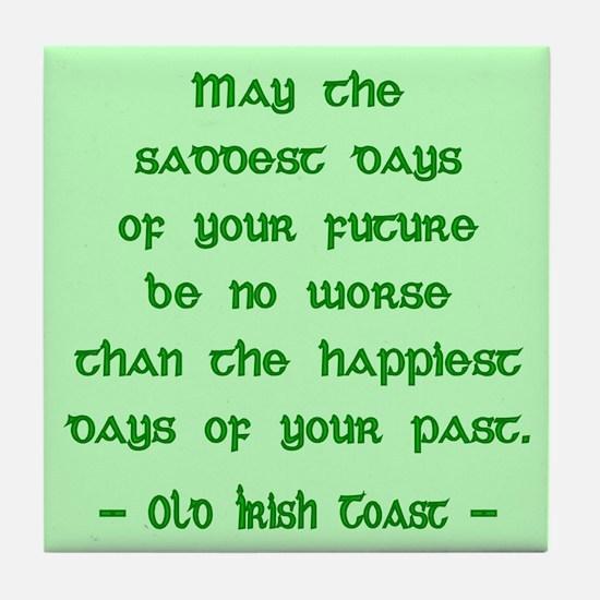 Irish Toast Happy & Sad Tile Coaster