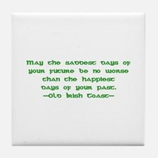 Irish Toast Happy & Sad 4 Tile Coaster