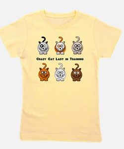Cute Crazy cat lady t Girl's Tee