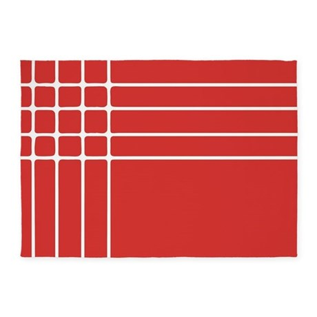 Red and white striped 5 39 x7 39 area rug by admin cp3570132 for Red and white striped area rug