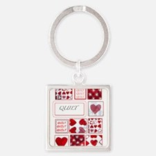 Cute Quilters Square Keychain