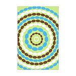 Blue & Brown Mod Mini Poster Print