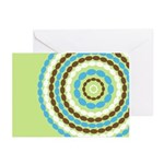 Blue & Brown Mod Greeting Cards (Pk of 10)