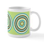 Blue & Brown Mod Ceramic Coffee Mug