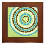 Blue & Brown Mod Framed Tile