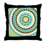 Blue & Brown Mod Throw Pillow