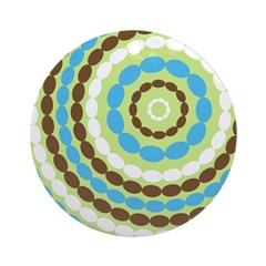 Blue & Brown Mod Ornament (Round)