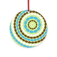 Blue & Brown Mod Ornament (Round)