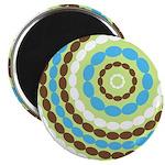 """Blue & Brown Mod 2.25"""" Magnet (10 pack)"""